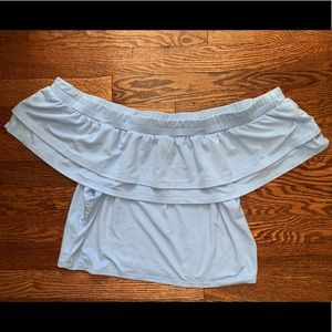 Periwinkle Off the Shoulder Top